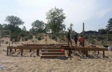 Изграждане на дървен бар в Созопол (Каваци)