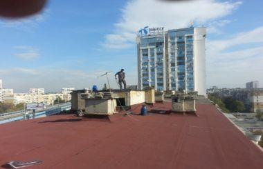 Основен ремонт на плосък покрив с хидроизолация